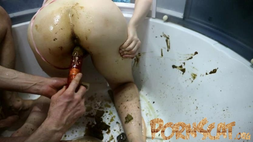 Alien shit penetrates uterus Part 2 with WCwife  [FullHD / 2018]